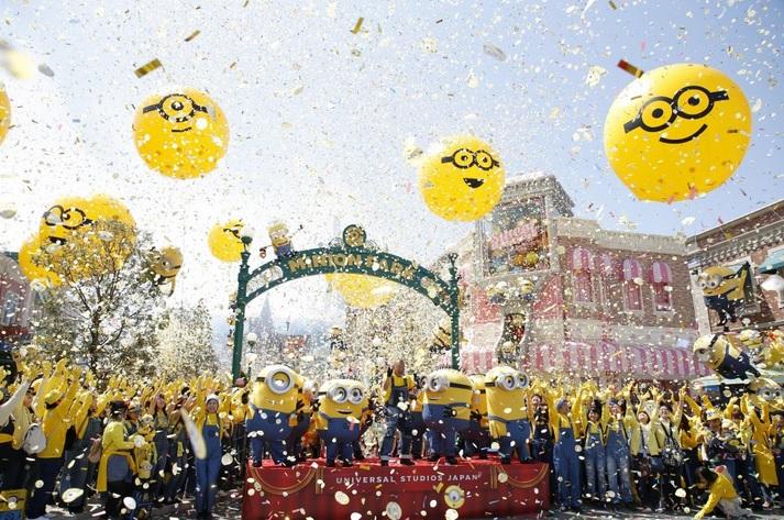 Парк Universal Studios в Осаке собрал больше всех в мире миньонов