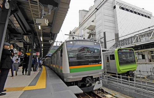 На станции JR Shibuya открыта новая платформа Saikyo Line